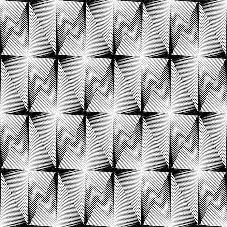 simsearch:400-04476890,k - Design seamless diamond trellised pattern. Abstract geometric monochrome background. Speckled texture. Vector art. No gradient Stock Photo - Budget Royalty-Free & Subscription, Code: 400-07551544