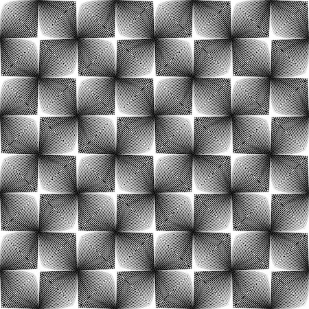 simsearch:400-04476890,k - Design seamless square trellised pattern. Abstract geometric monochrome background. Speckled texture. Vector art Stock Photo - Budget Royalty-Free & Subscription, Code: 400-07551550