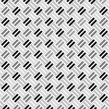 simsearch:400-04476890,k - Design seamless monochrome geometric pointed pattern. Abstract diagonal background. Speckled texture. Vector art Stock Photo - Budget Royalty-Free & Subscription, Code: 400-07551553