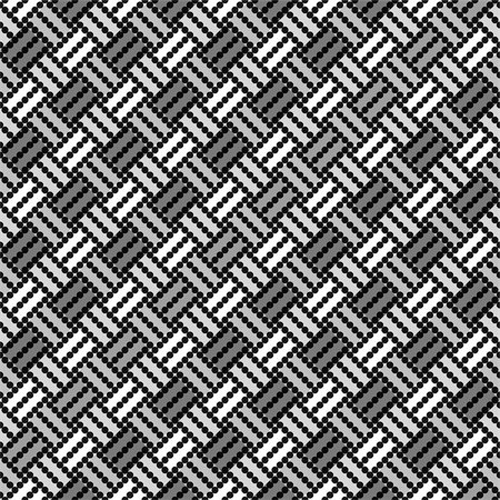 simsearch:400-04476890,k - Design seamless monochrome geometric pointed pattern. Abstract diagonal background. Speckled texture. Vector art Stock Photo - Budget Royalty-Free & Subscription, Code: 400-07551717
