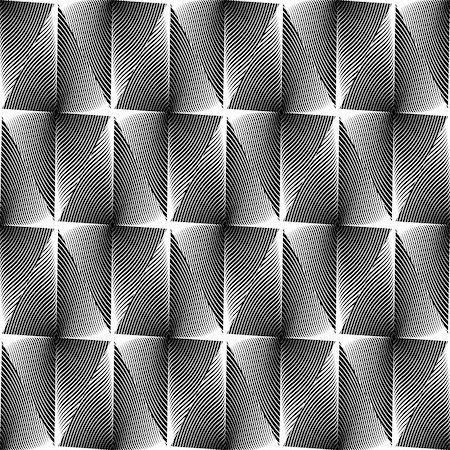 simsearch:400-04476890,k - Design seamless diamond trellised pattern. Abstract geometric monochrome background. Speckled texture. Vector art. No gradient Stock Photo - Budget Royalty-Free & Subscription, Code: 400-07551724
