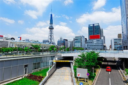 Nagoya downtown traffic day, Japan city skyline with Nagoya Tower daytime Stock Photo - Budget Royalty-Free & Subscription, Code: 400-07551744