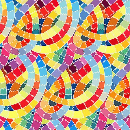 Abstract seamless retro pattern.Vector illustration. Stock Photo - Budget Royalty-Free & Subscription, Code: 400-07552357