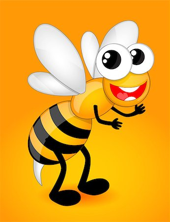 scalable - Cartoon bee Stock Photo - Budget Royalty-Free & Subscription, Code: 400-07552703