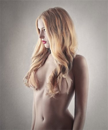 Beautiful blonde girl posing nude Stock Photo - Budget Royalty-Free & Subscription, Code: 400-07567511