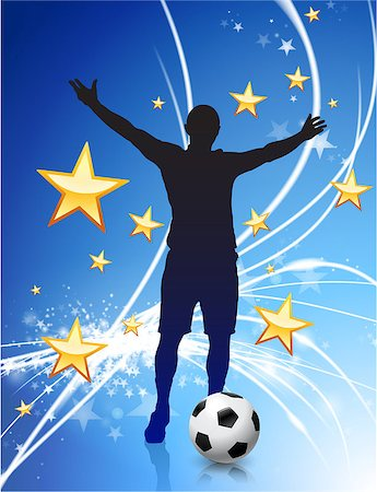 Soccer Player on Abstract Modern Light Background Original Illustration Stock Photo - Budget Royalty-Free & Subscription, Code: 400-07568001