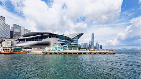 Hong Kong Skyline , Wan Chai Waterfront Promenade Stock Photo - Budget Royalty-Free & Subscription, Code: 400-07575993