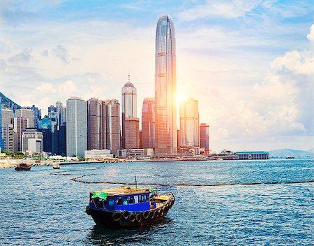 Hong Kong harbour Stock Photo - Budget Royalty-Free & Subscription, Code: 400-07572943