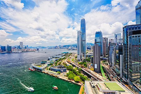 Hong Kong Central finance downtown Stock Photo - Budget Royalty-Free & Subscription, Code: 400-07615166