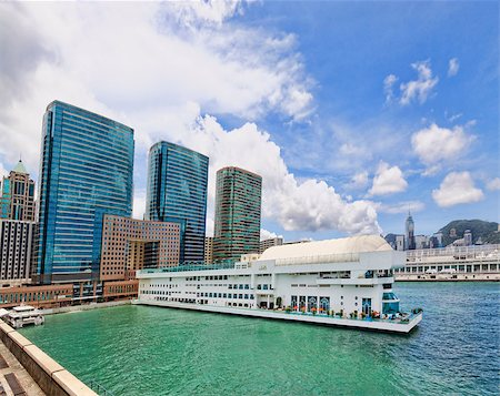 Hong Kong harbour at day Stock Photo - Budget Royalty-Free & Subscription, Code: 400-07615674