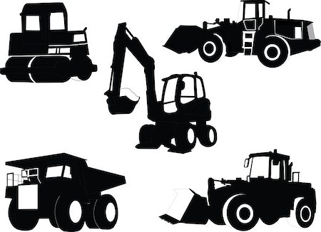 illustration of Construction machines collection - vector Stock Photo - Budget Royalty-Free & Subscription, Code: 400-07616387
