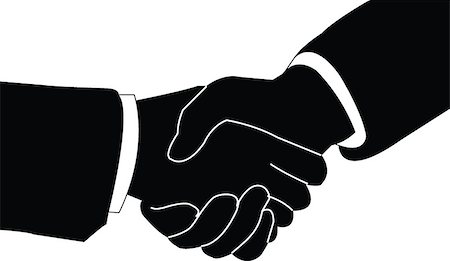 illustration of business handshake - vector Stock Photo - Budget Royalty-Free & Subscription, Code: 400-07616402