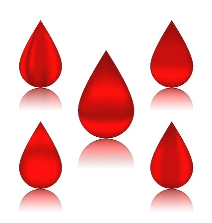dripping blood illustration - Illustration set blood drops with reflections, different variation - vector Stock Photo - Budget Royalty-Free & Subscription, Code: 400-07616745