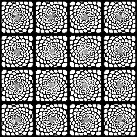 simsearch:400-04476890,k - Design seamless monochrome spiral movement snakeskin pattern. Abstract background in op art style. Vector art Stock Photo - Budget Royalty-Free & Subscription, Code: 400-07626486