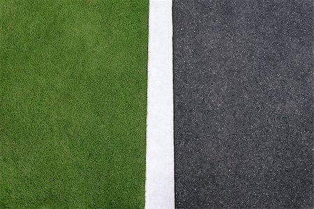diego_cervo (artist) - high angle view of lane and grass on roadside. Concept of environmental conservation, ecology, hard and soft surfaces. Copy space Stock Photo - Budget Royalty-Free & Subscription, Code: 400-07627920