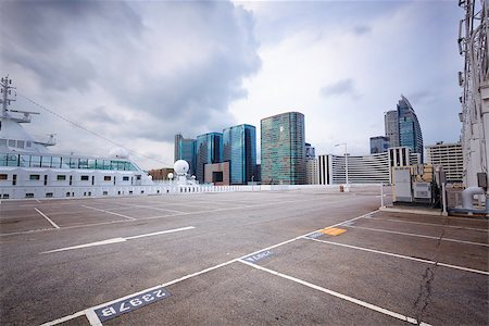large numbered space parking lot Stock Photo - Budget Royalty-Free & Subscription, Code: 400-07629120