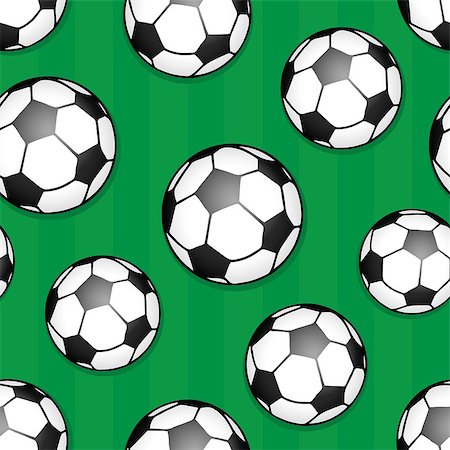 Seamless background soccer theme 1 - eps10 vector illustration. Stock Photo - Budget Royalty-Free & Subscription, Code: 400-07621210