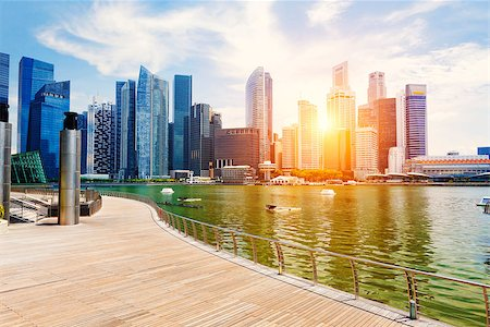 Singapore city skyline at day Stock Photo - Budget Royalty-Free & Subscription, Code: 400-07634368