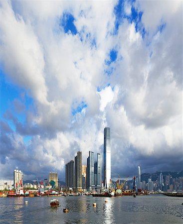 Hong Kong harbour at day Stock Photo - Budget Royalty-Free & Subscription, Code: 400-07634376