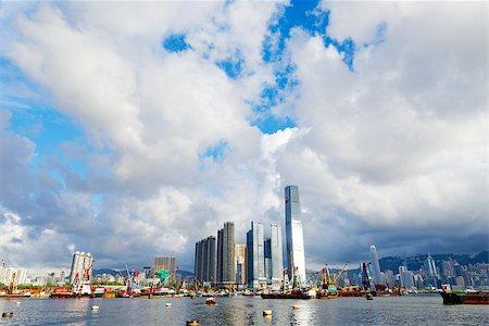 Hong Kong harbour at day Stock Photo - Budget Royalty-Free & Subscription, Code: 400-07634377