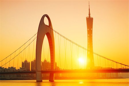 Zhujiang River and modern building of financial district in guangzhou china. Stock Photo - Budget Royalty-Free & Subscription, Code: 400-07630728