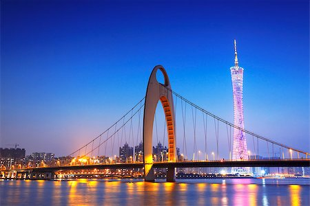 Zhujiang River and modern building of financial district in guangzhou china. Stock Photo - Budget Royalty-Free & Subscription, Code: 400-07630730