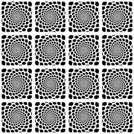 simsearch:400-04476890,k - Design seamless monochrome spiral movement snakeskin pattern. Abstract background in op art style. Vector art Stock Photo - Budget Royalty-Free & Subscription, Code: 400-07631178