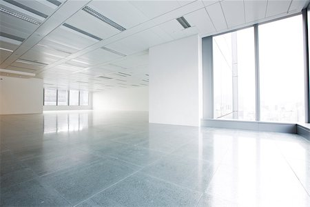 Bright empty office building interior Stock Photo - Budget Royalty-Free & Subscription, Code: 400-07667236