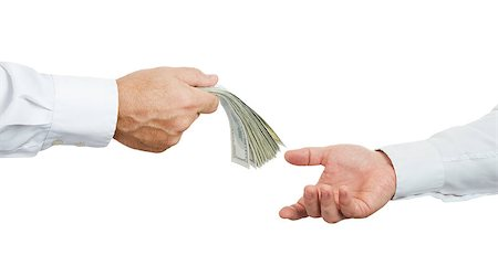 Hands and money isolated on white background Stock Photo - Budget Royalty-Free & Subscription, Code: 400-07667695