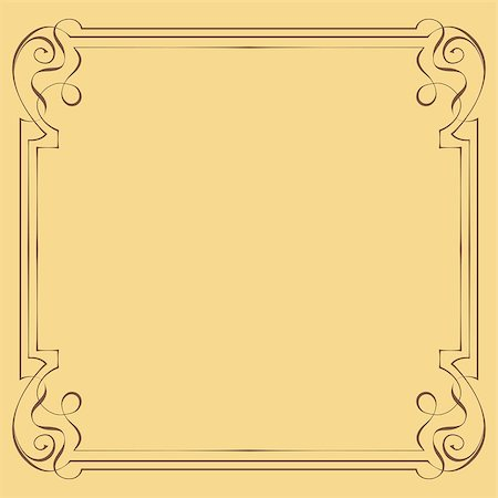 pzromashka (artist) - Vector illustration. Vintage beautiful elegant frame. Element for design Stock Photo - Budget Royalty-Free & Subscription, Code: 400-07668062