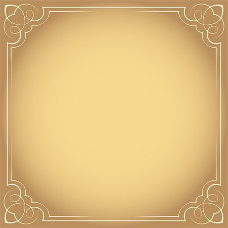 pzromashka (artist) - Vector illustration. Vintage beautiful elegant frame. Element for design Stock Photo - Budget Royalty-Free & Subscription, Code: 400-07668063