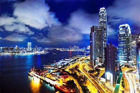 Hong kong office building at night Stock Photo - Budget Royalty-Free & Subscription, Code: 400-07669004