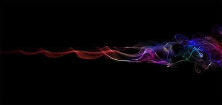 color abstract smoke pattern on a black background Stock Photo - Budget Royalty-Free & Subscription, Code: 400-07669266