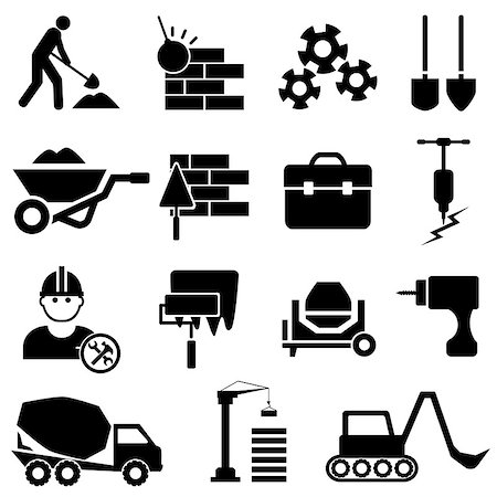 soleilc (artist) - Construction and heavy machinery icon set Stock Photo - Budget Royalty-Free & Subscription, Code: 400-07662168