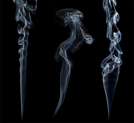 smoke magic abstract - Three stream of a blue smoke on black background Stock Photo - Budget Royalty-Free & Subscription, Code: 400-07676079
