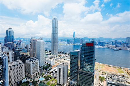 Hong Kong , Modern Buildings in finance district Stock Photo - Budget Royalty-Free & Subscription, Code: 400-07676821