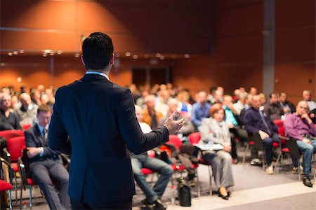 Speaker at Business Conference and Presentation. Audience at the conference hall. Stock Photo - Budget Royalty-Free & Subscription, Code: 400-07677384