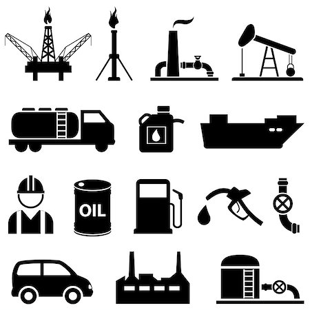 soleilc (artist) - Oil, fuel, petroleum and gasoline icon set Stock Photo - Budget Royalty-Free & Subscription, Code: 400-07670188