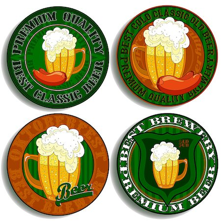 set of beer tags, this illustration can be used for your design Stock Photo - Budget Royalty-Free & Subscription, Code: 400-07670384