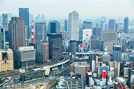 Dense skyline of Umeda District, Osaka, Japan Stock Photo - Budget Royalty-Free & Subscription, Code: 400-07681281