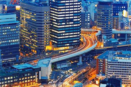 Dense skyline of Umeda District, Osaka, Japan Stock Photo - Budget Royalty-Free & Subscription, Code: 400-07681283
