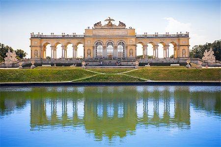 AUSTRIA, VIENNA - AUGUST 4, 2013: The Gloriette in Schoenbrunn Palace Garden, Vienna, Austria Stock Photo - Budget Royalty-Free & Subscription, Code: 400-07681663