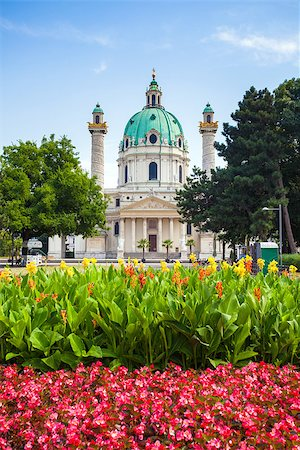 St. Charles's Church (Karlskirche) in Vienna, Austria Stock Photo - Budget Royalty-Free & Subscription, Code: 400-07681674