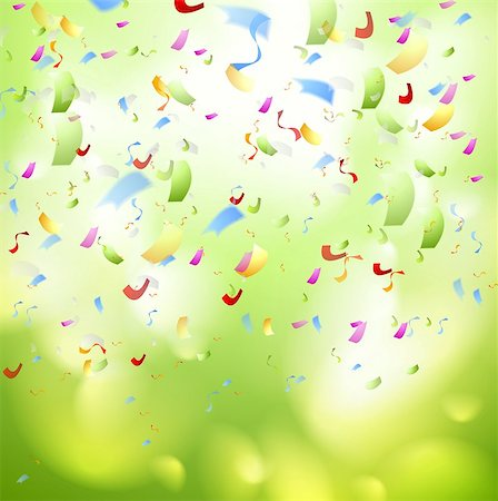 party celebration paper confetti - Bright shiny confetti abstract design template. Vector background Stock Photo - Budget Royalty-Free & Subscription, Code: 400-07681927