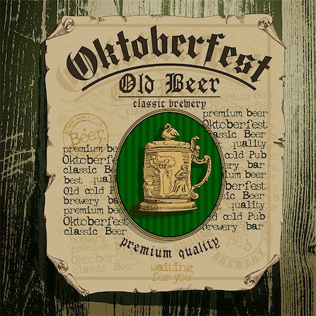 beer background Oktoberfest, this illustration can be used for your design Stock Photo - Budget Royalty-Free & Subscription, Code: 400-07715084