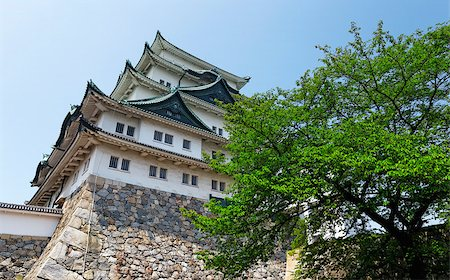 """Nagoya castle atop with golden tiger fish head pair called """"King Cha Chi"""", Japan Stock Photo - Budget Royalty-Free & Subscription, Code: 400-07716963"""