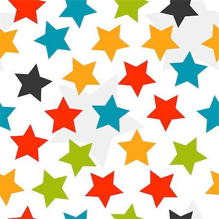 seamless - Colorful stars seamless background. Vector illustration Stock Photo - Budget Royalty-Free & Subscription, Code: 400-07717096