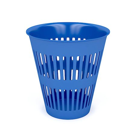 Trash can on white background Stock Photo - Budget Royalty-Free & Subscription, Code: 400-07717935