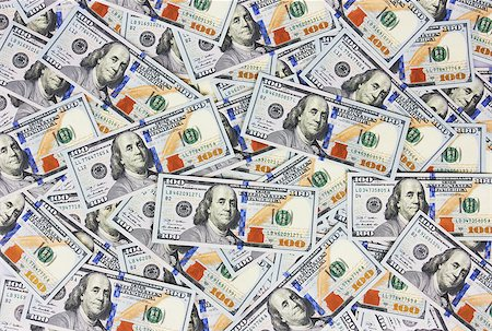 Background with money american hundred dollar bills Stock Photo - Budget Royalty-Free & Subscription, Code: 400-07718015