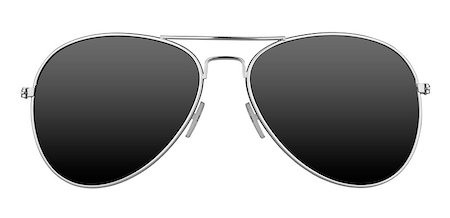 Sunglasses isolated on white background Stock Photo - Budget Royalty-Free & Subscription, Code: 400-07718032